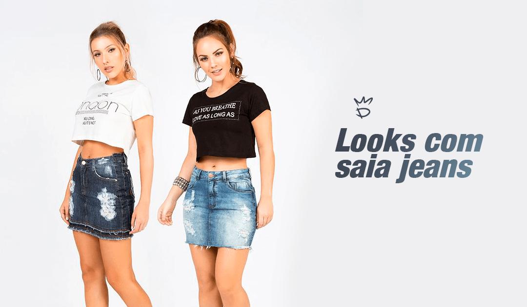 59291f2f5 Dicas de looks com saia jeans para você se inspirar